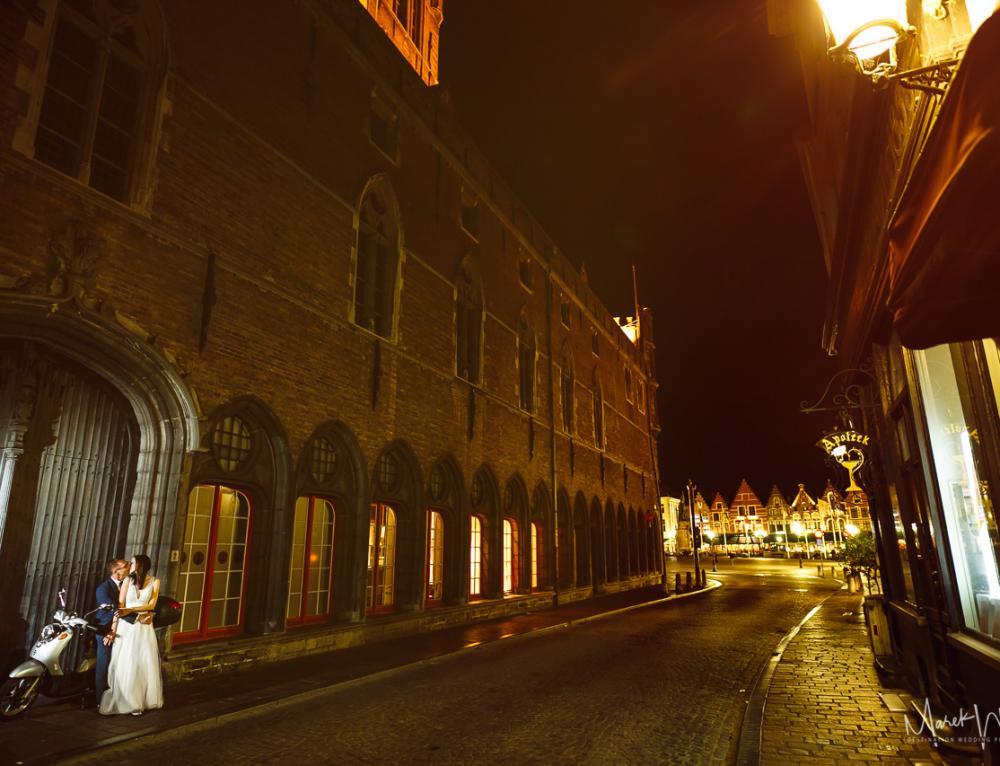 Sesja ślubna w Brugii / Belgia / K+M